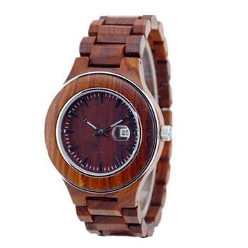 NYS-077 Red Sandal Wood Watch
