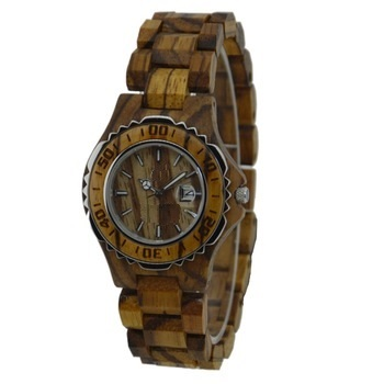 NYS-076 Zebra Wood Watch